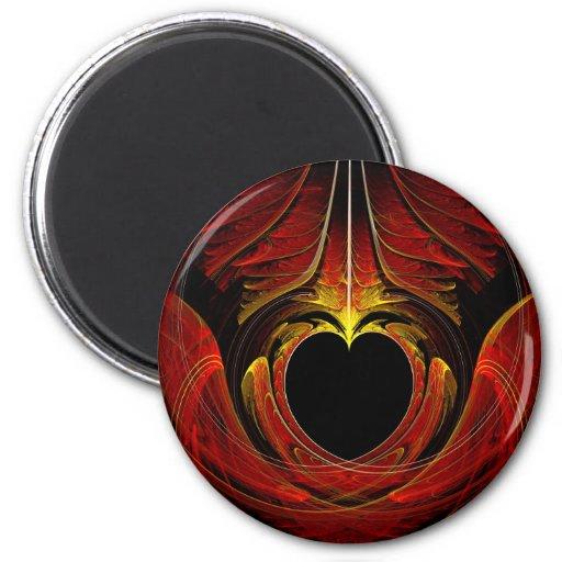 Fractal - corazón - amor del Victorian Imán