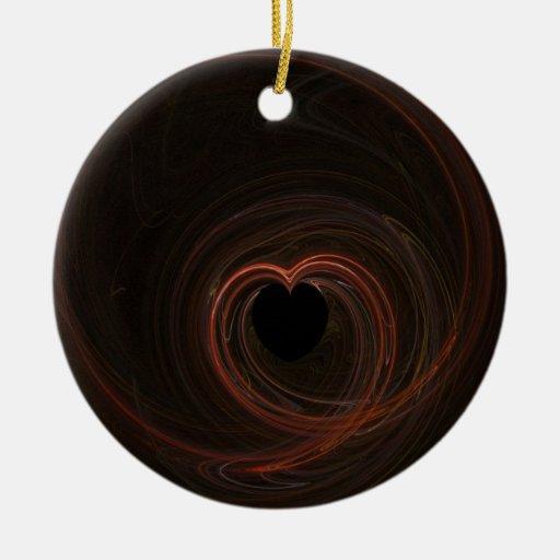 Fractal - corazón rojo adornos