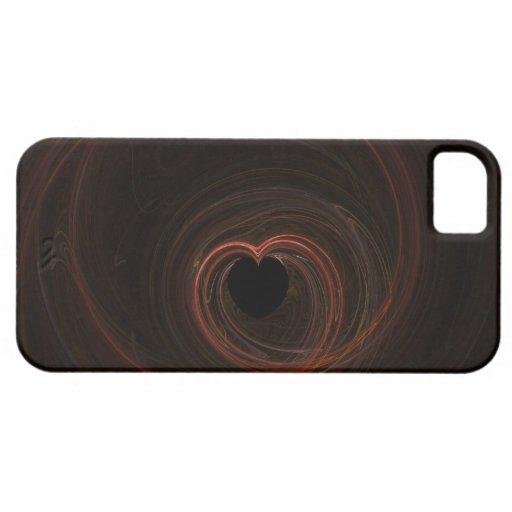 Fractal - corazón rojo iPhone 5 Case-Mate carcasa