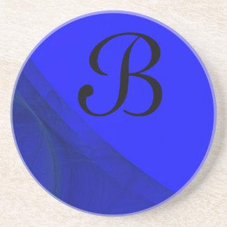 Fractal Corner Series-7-Blue coaster--1 of