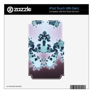 Fractal coronado de la criatura iPod touch 4G calcomanía