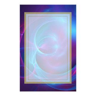Fractal cósmico violeta y rosado azul de Swirly Papeleria Personalizada