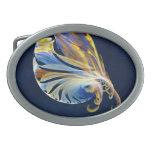 Fractal - criatura del mar hebillas de cinturón ovales