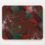 Fractal cristalino rojo y verde Mousepad del Tendr Alfombrillas De Raton