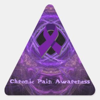 Fractal crónico de la conciencia del dolor pegatina triangular