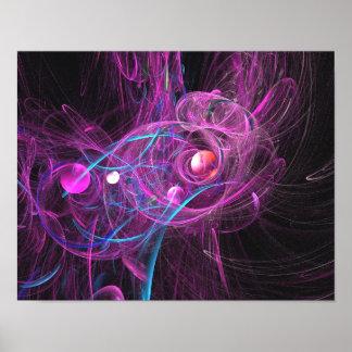 Fractal crónico púrpura del dolor póster