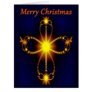 Fractal Cross Christmas Greeting card