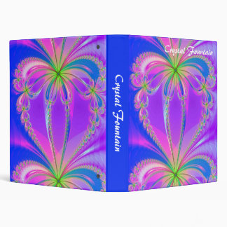 Fractal - Crystal Fountain  (1in) 3 Ring Binder