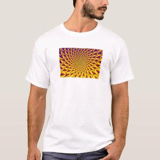 Fractal (Dahla Vortex-Yellow Blue) Men's T-Shirt