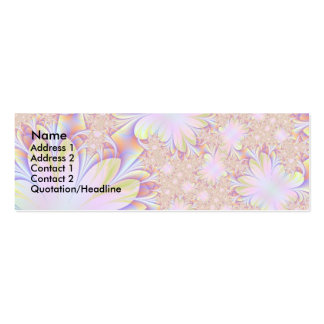 Fractal Daisey Profile Card Double-Sided Mini Business Cards (Pack Of 20)