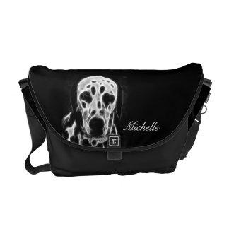 Fractal Dalmatian Messenger Bag