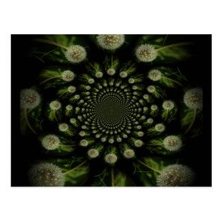 Fractal Dandelion Postcard