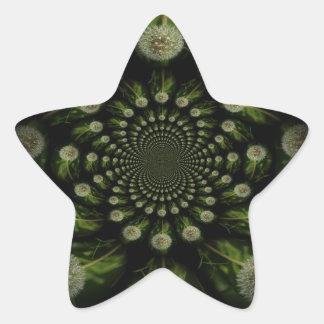 Fractal Dandelion Star Sticker