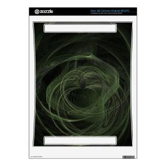 Fractal Dark Green Love Xbox 360 Console Decals