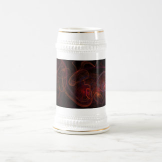 Fractal Dark Red Beer Stein