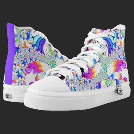 Fractal Daydreams High-Top Sneakers