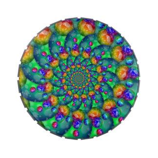 Fractal de Bokeh de la turquesa del arco iris