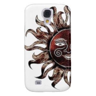 Fractal de bronce de Sun Funda Para Galaxy S4