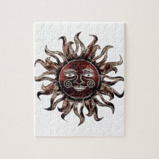 Fractal de bronce de Sun Puzzle Con Fotos