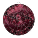 Fractal de color rojo oscuro tabla dardos