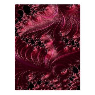 Fractal de color rojo oscuro postal