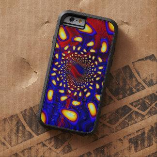 Fractal de cristal fundido psicodélico de funda de iPhone 6 tough xtreme