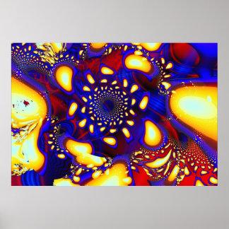 Fractal de cristal fundido psicodélico de KaleidoB Poster