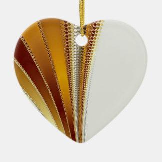 Fractal de cuero del navidad adorno de cerámica en forma de corazón