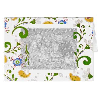 Fractal de flores - personalizar tarjeta de felicitación