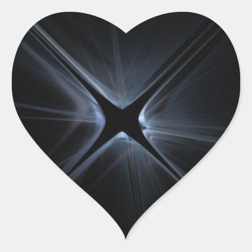Fractal de la brecha calcomania de corazon personalizadas