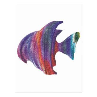 Fractal de la burbuja de los pescados de arco iris postal