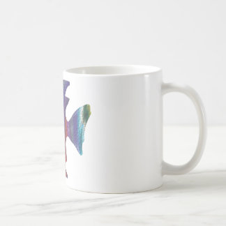 Fractal de la burbuja de los pescados de arco iris taza de café