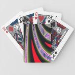Fractal de la carretera con curvas baraja de cartas
