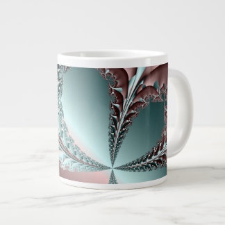 Fractal de la elegancia taza grande