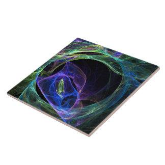 Fractal de la energía azulejo cuadrado grande