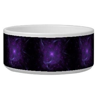 Fractal de la esperanza en púrpura tazones para perro