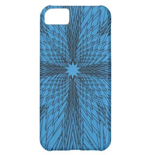Fractal de la estrella azul del invierno funda para iPhone 5C