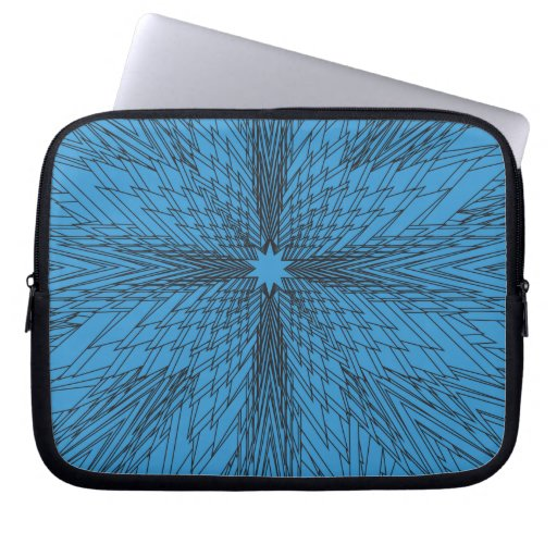 Fractal de la estrella azul del invierno mangas portátiles