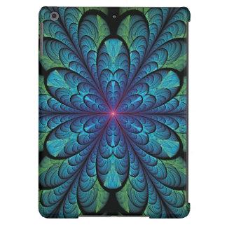Fractal de la flor de la pluma funda para iPad air