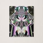 Fractal de la flor de Lotus de la joya de la coron Rompecabeza Con Fotos