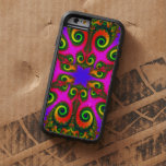 Fractal de la flor de Phoenix Funda De iPhone 6 Tough Xtreme