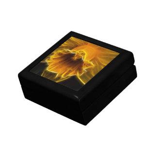 Fractal de la flor del narciso caja de joyas
