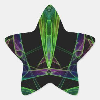 Fractal de la llama del caos de la pirámide calcomanías forma de estrellaes