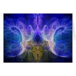 Fractal de la llama del iris felicitacion