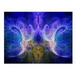 Fractal de la llama del iris tarjeta postal