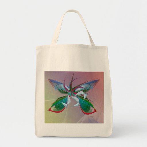 Fractal de la mariposa del mar en bolso de ultrama bolsas lienzo