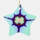 Fractal de la mitosis adornos de navidad