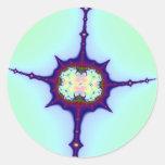Fractal de la mitosis pegatina redonda