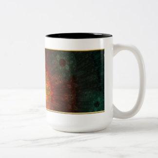 Fractal de la supernova taza de café de 15 onzas