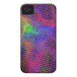 Fractal de la textura del arco iris Case-Mate iPhone 4 carcasa